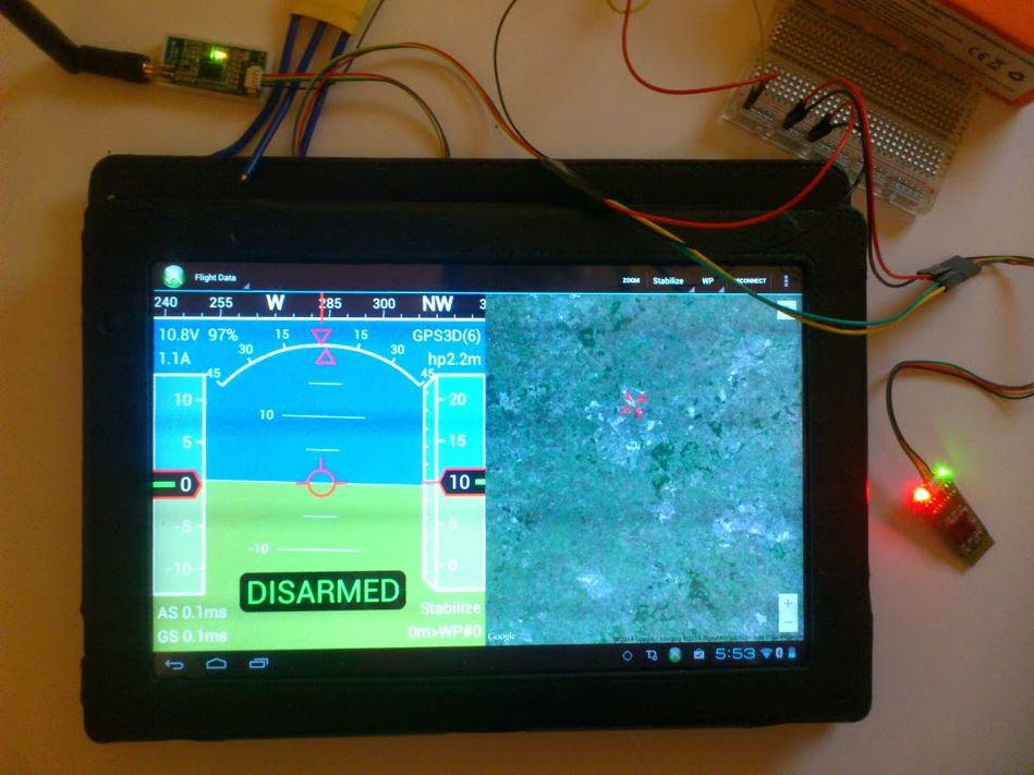 Bluetooth to telemetry bridge - Build Log - DroneTrest