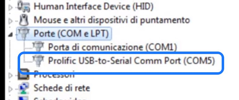 driver prolific usb to serial comm port