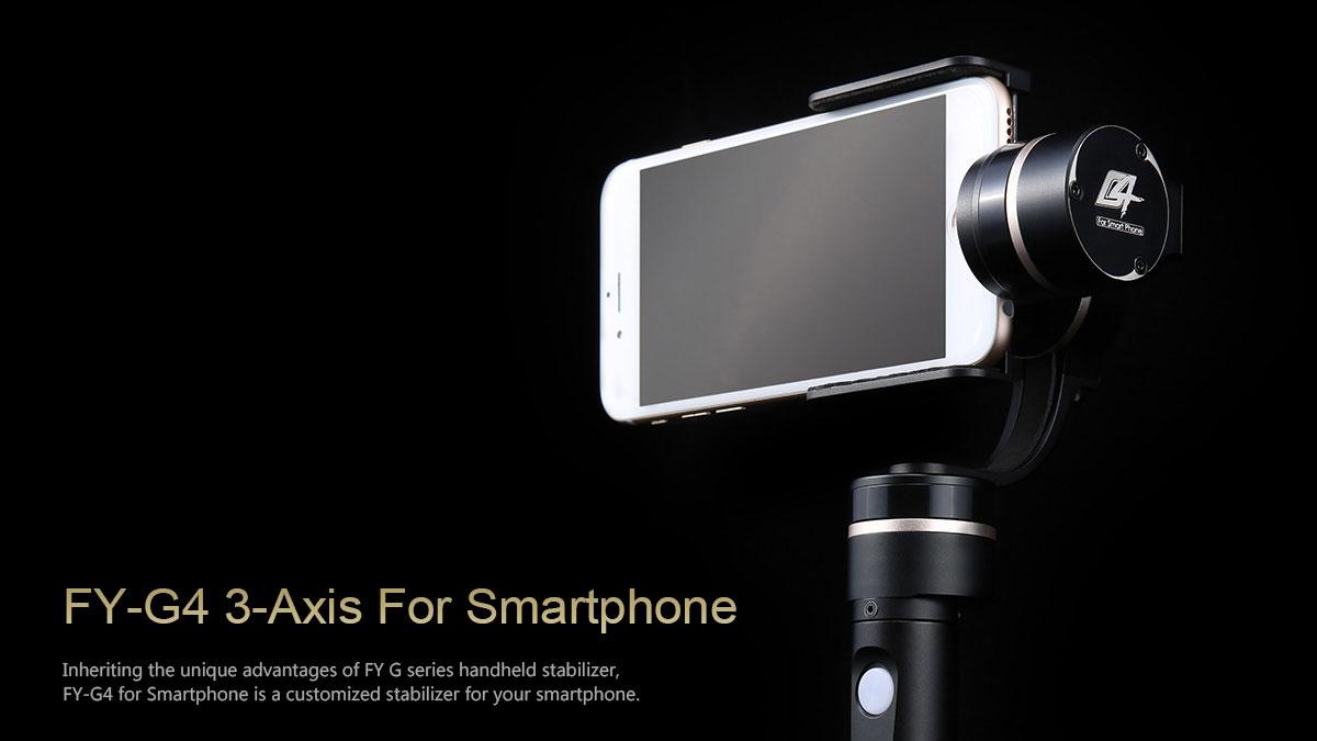 fy g4 smarphone gimbal the best stabilising selfie stick product drone. Black Bedroom Furniture Sets. Home Design Ideas