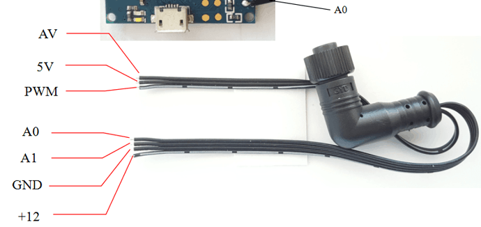 Pin Config of the Gimbal cable