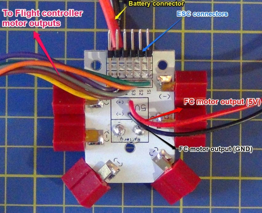 connecting arducoptor y6 and mini kk2 1 5 flight controller help Quadcopter Kit pdb arducopter jpg852x692 117 kb