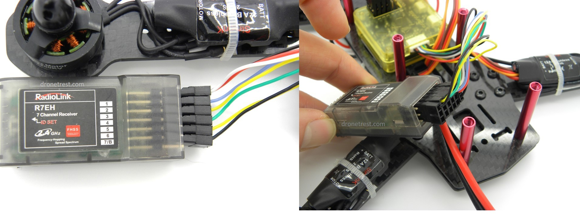 Qav Zmr 250 Assembly Build Guide Guides Dronetrest Cc3d Spektrum Wiring Diagram Receiver Installation 21910x739 233 Kb