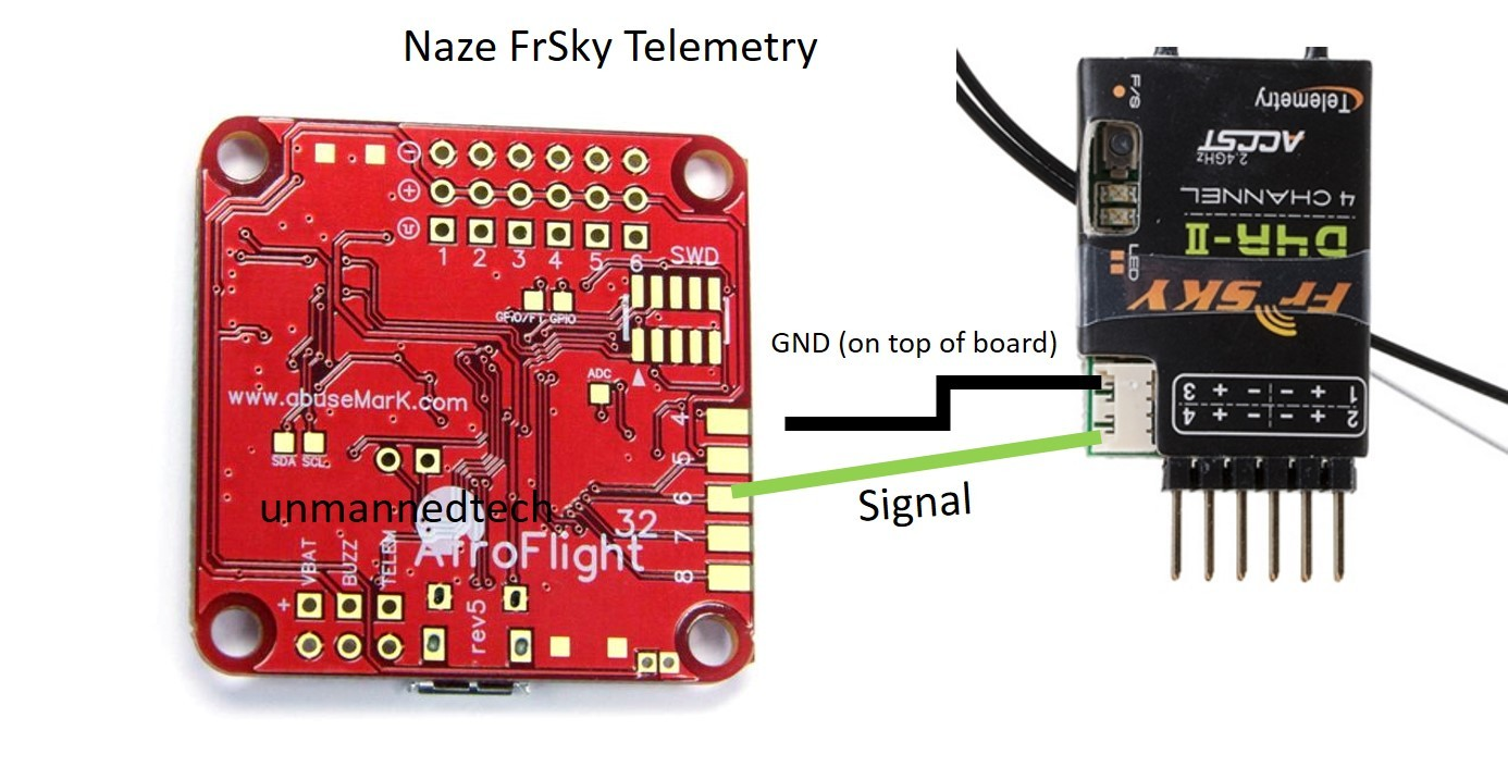 how to use frsky telemetry on your miniquad cleanflight naze32