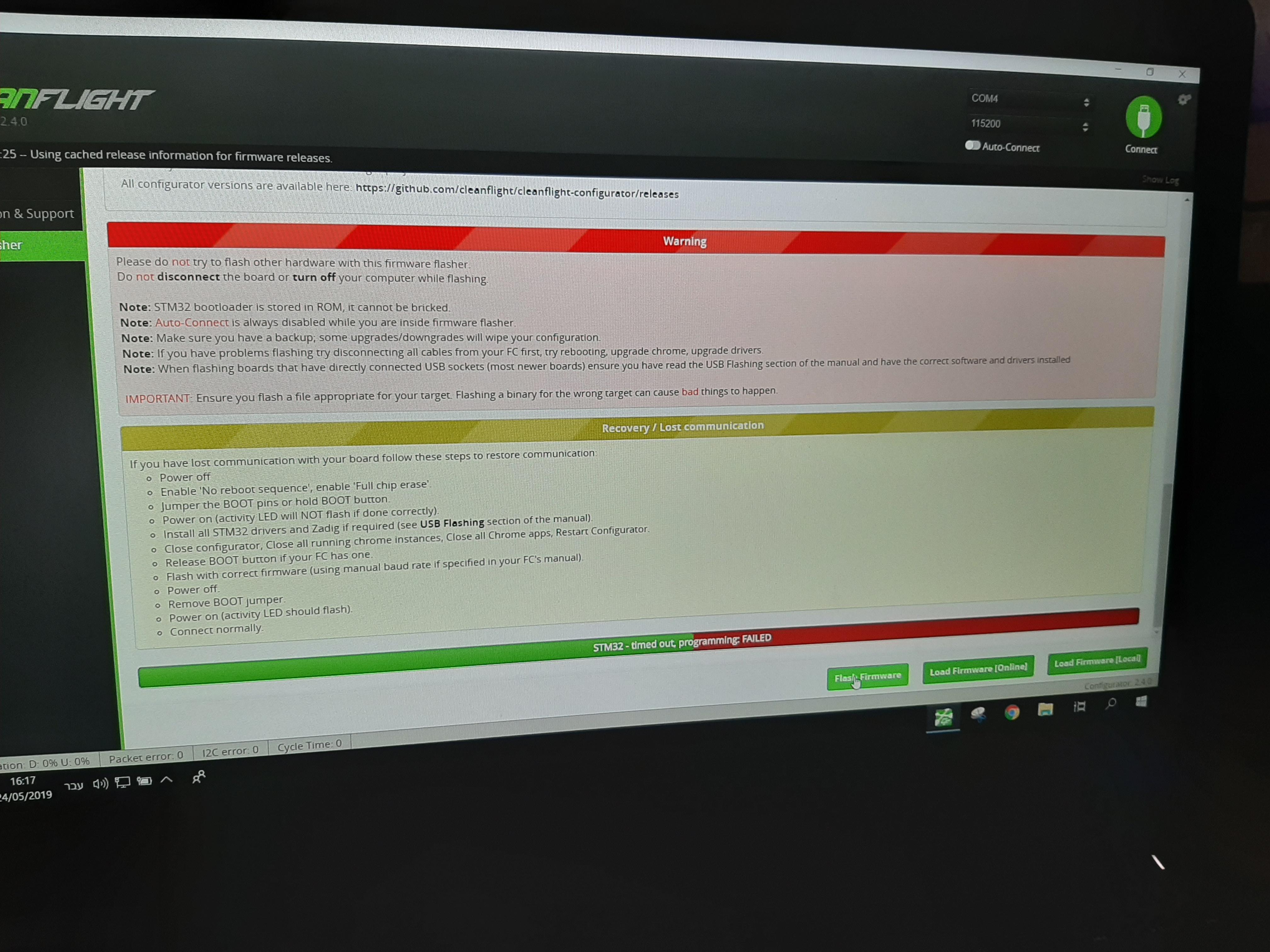 Stm32 timede out problem - Help - DroneTrest