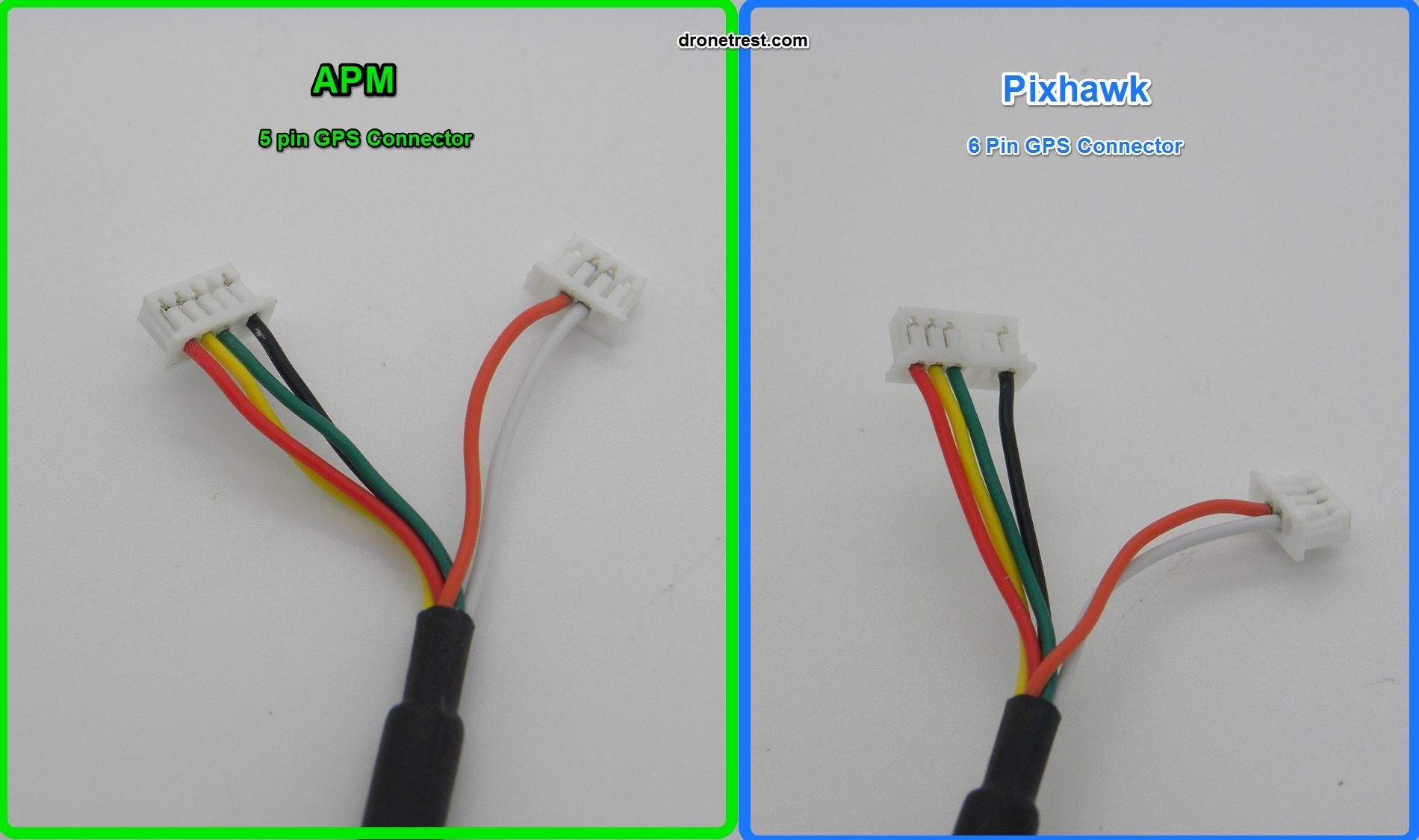 Swapping NEO-7N/NEO-M8N GPS Molex/JST-SH connectors for Pixhawk/APM