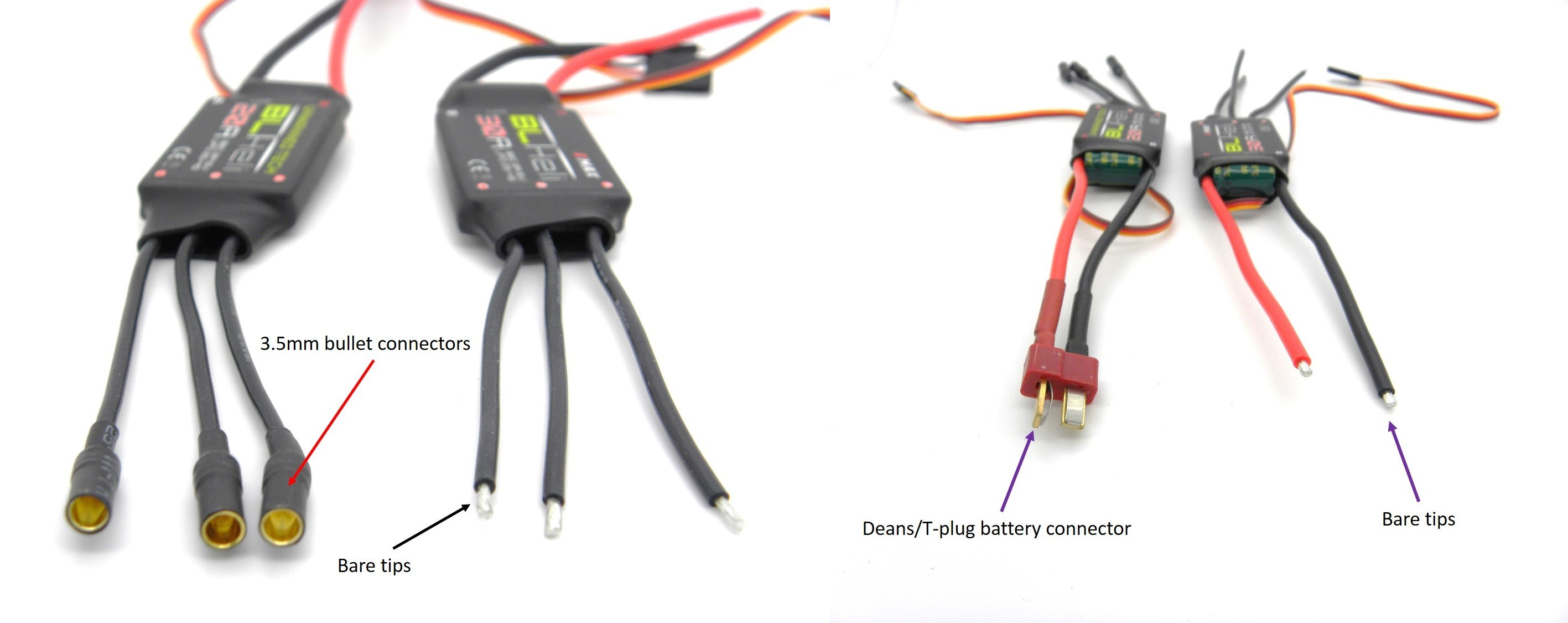 What To Consider When Buying A Esc For Your Multirotor Guides Well Brushless Motor Controller As Electric Wiring Diagram Bullet Connectors On Esc2834x1125 204 Kb