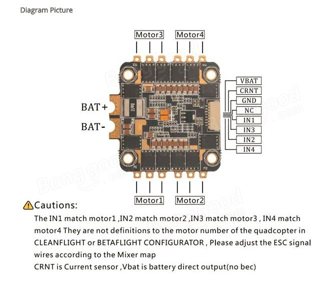 4 In 1 Esc Wiring Diagram from www.dronetrest.com