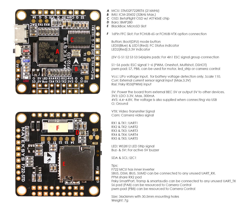Matek F722 Std Fixed Wing Install - Help