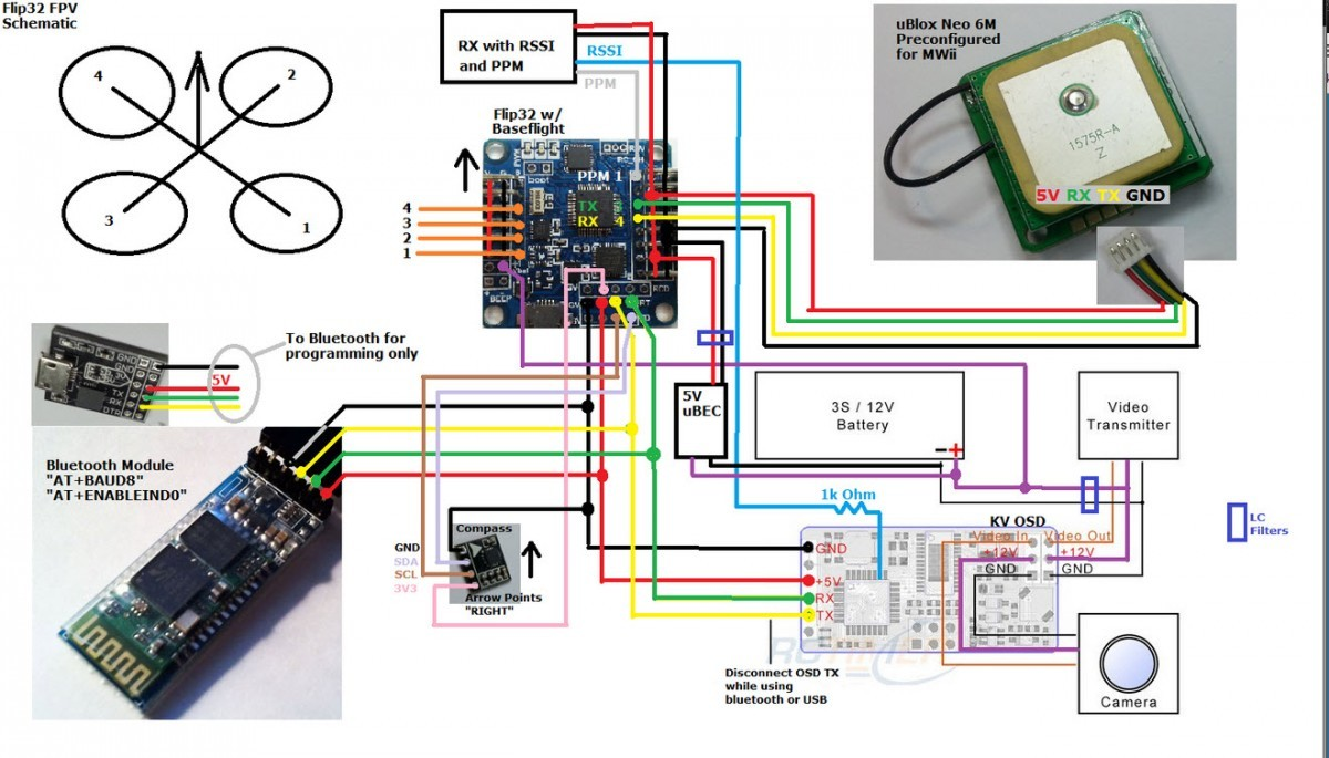 flip 32 naze 32 flight controller guide guides dronetrest flip32 connection diagram jpg1200x685 164 kb