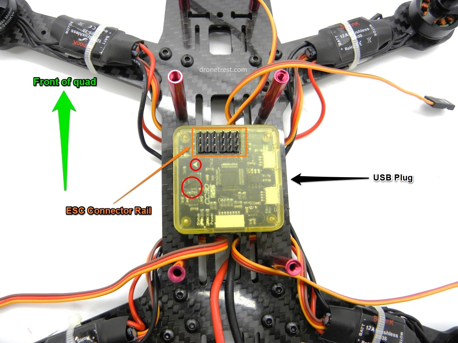 drone wiring diagram qav zmr 250 assembly build guide guides dronetrest cc3d installation jpg1500x1125 277 kb