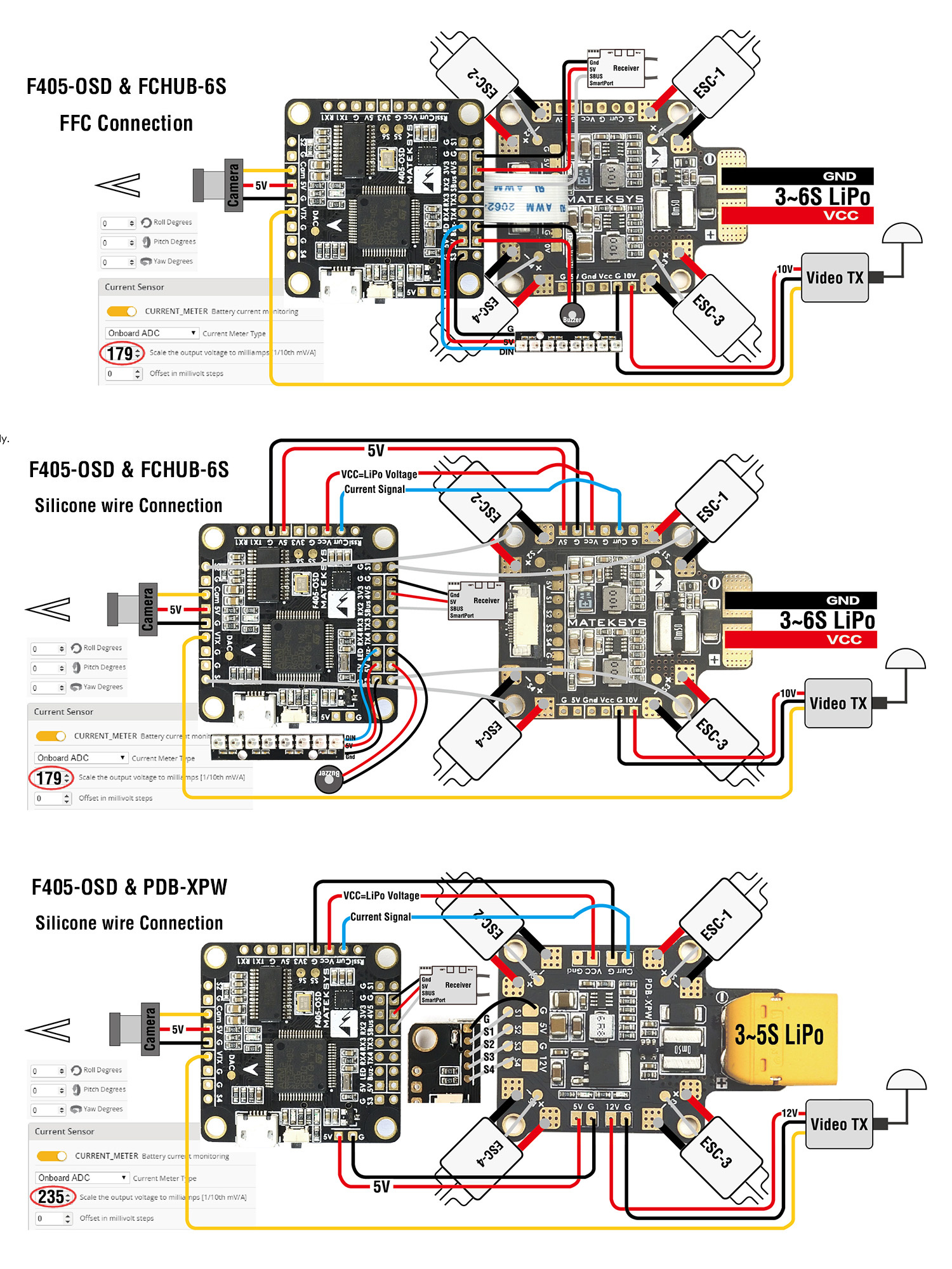 Cam pad issue on Matek f405 FC - Help - DroneTrest Dalrc Osd Wiring Diagram on