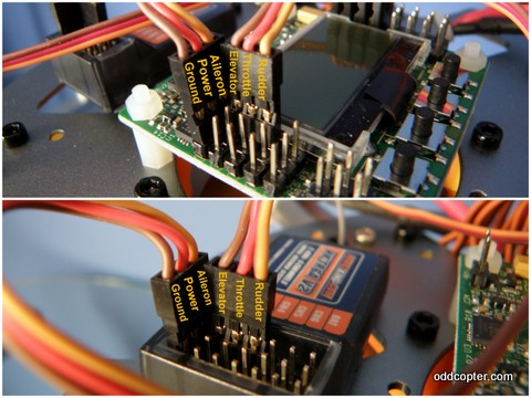 how to wire a flight control board to a tgy ia6c receiver help Home Wiring Diagrams connecting the receiver